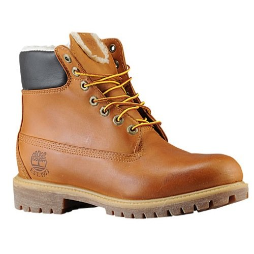 Timberland Mens Classic 6″ Fur Lined Waterproof Boots Wheat Nubuck/Fleece 6065R Size 11