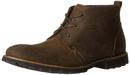 Rockport Men's Charson Lace-Up Boot,Dark Brown Crazy Horse,10.5 W US