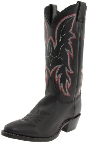 Justin Boots Men's U.S.A. 13″ Classic Western Boot Medium Round Toe,Black Chester,10.5 D US
