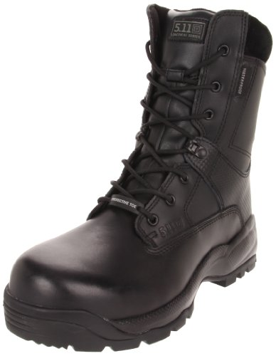 5.11 Men's A.T.A.C. SHIELD 8″ Side Zip Certified Safety Toe Boot,Black,12 2E US