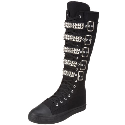 Demonia by Pleaser Men's Deviant-304 Lace-Up,Black Canvas,6 M US