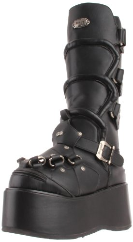 Pleaser Men's Wicked-732 Boot,Black Polyurethane,10 M US