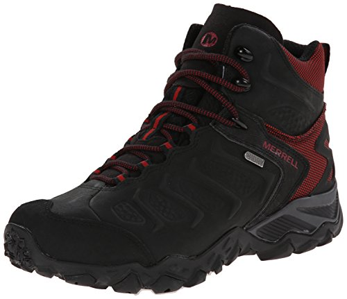 Merrell Men's Chameleon Shift Mid Waterproof Hiking Boot, Black/Red, 9.5 M US