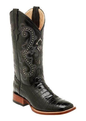 Ferrini Western Boots Mens Caiman Gator Cowboy 13 EE Black 40793-04