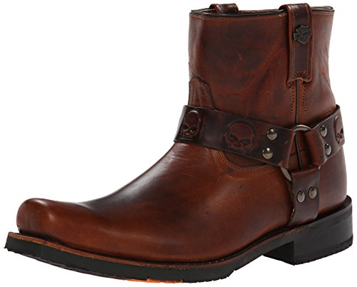 Harley-Davidson Men's Thornton Motorcylce Harness Boot, Brown, 9.5 M US