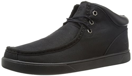 Timberland Men's Groveton Moccasin Toe Chukka Snow Boot, Black Canvas, 10 M US