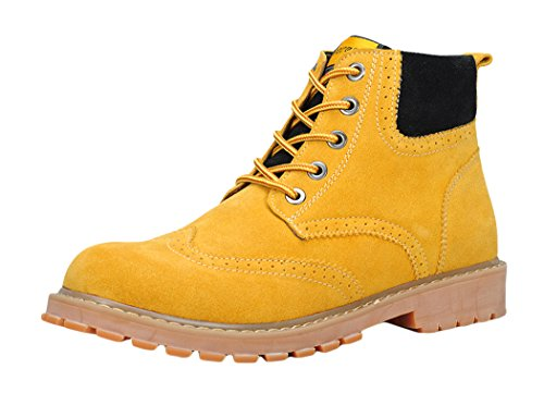 Serene Mens Fashion Lace-up Rubber Sole Ankle Boot (9 D(M)US, Yellow)
