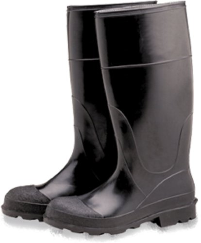 Industrial 16″ PVC Rubber Boots, Plain Toe, Over The Sock (Size 14)