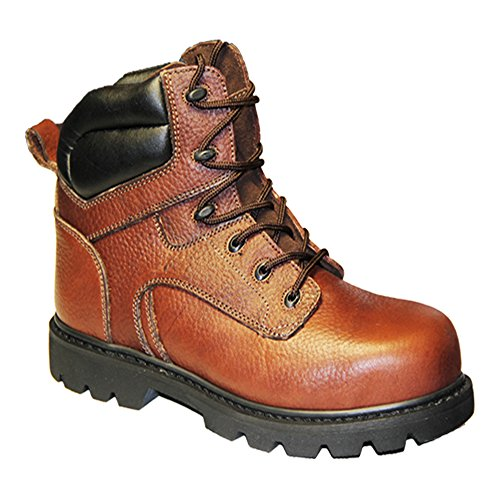 Dr Zen Samson Men's Extra Width Steel Toe Work Boot: Brown 11.5 X-Wide (4E-6E) Lace