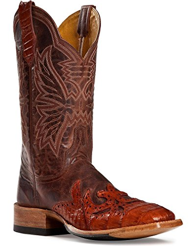 Cinch Western Boots Mens Cowboy Mad Dog Sq Toe 9.5 EE Cognac CFM150