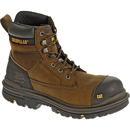 Caterpillar Men's Gravel 6″ Waterproof Lace-Up Boot Composite Toe Dark Brn US