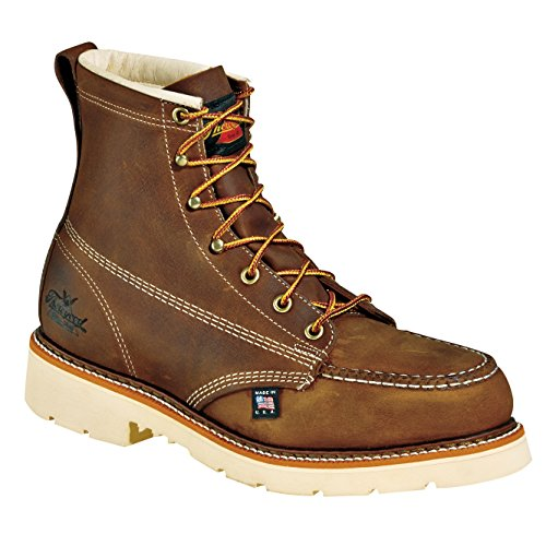 Thorogood Mens Heritage Brown Leather Boots 6in Moc Safety Toe 11.5 D