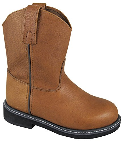 Smoky Mountain Boots Toddler Boys Jackson Brown Leather Cowboy Welly 8 D
