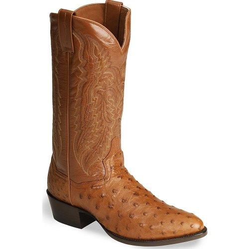Men's 13 inch Dan Post Tempe Ostrich Boots, COGNAC, 13M