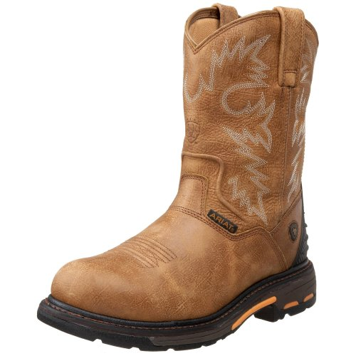 Ariat Men's Workhog RT Pull-on H2O Composite Toe Work Boot, Rugged Bark, 10.5 D US