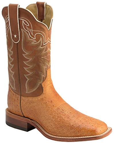 Tony Lama O4175 Men's 11-in Vintage Smooth Ostrich Boot Cognac 11 EE US
