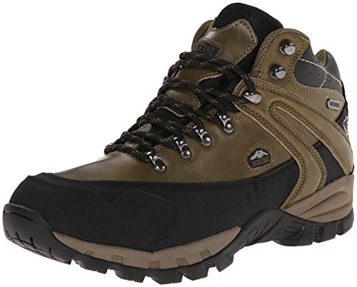 Pacific Trail Men's Rainier WP Hiking Boot, Olive/Black, 12 M US