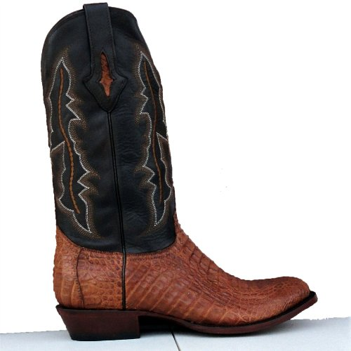 Lucchese Men's Resistol Ranch /Tan Body Cut Multi-Color Caiman Gator Cowboy Boots 13 W