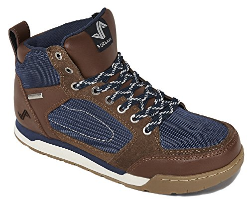 Forsake Men's Clyde Brown/Navy Leather Sneakerboot 11