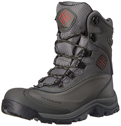 Columbia Men's Bugaboot Plus III Omni Cold Weather Boot, Charcoal/Bright Red, 8.5 D US