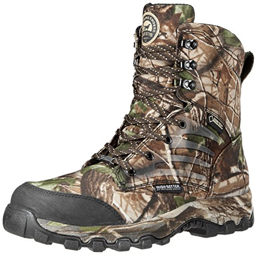 Irish Setter Men's 3858 Shadow Trek WP 8″ Big Game Boot,Real Tree Hardwoods Green HD,9 EE US