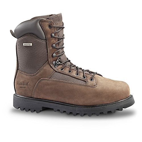 Guide Gear Men's Sports Hunting Boots 1200 Gram Thinsulate Waterproof, BROWN, 10M