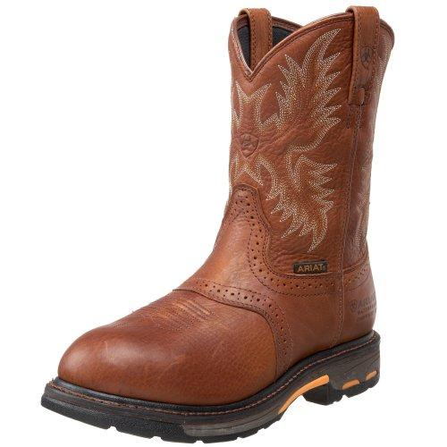 Ariat Men's Workhog Pull-on H2O Composite Toe Work Boot, Dark Copper, 7 2E US