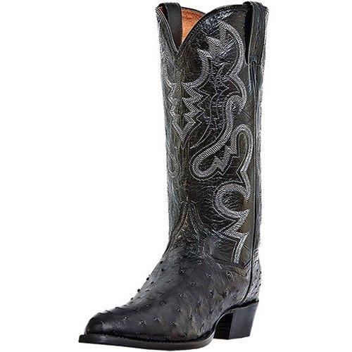 M US Dan Post Mens Raleigh Lizard Western Boot Medium Toe Black 8.5 D