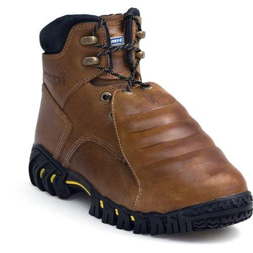 Michelin Men's Steel Toe Metatarsal Guard Dark Brown Boots 10 M US