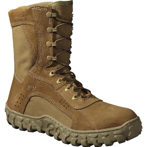 Rocky Men's 8 Inch S2v Protective Toe 6104 Steel Toed Work Shoe,Coyote Brown,13 M US