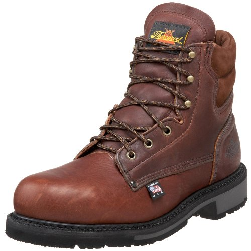 Thorogood American Heritage 6″ Safety Toe Boot, Walnut, 9.5 D US