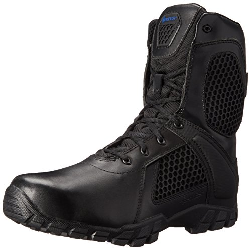 Bates Men's 8 Inch Strike Side Zip Waterproof Tactical Boot, Black, 9 M US