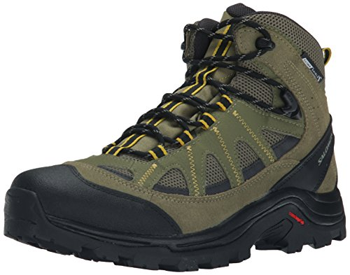 Salomon Men's Authentic LTR CS WP Hiking Boot High Top, Iguana Green/black/Ray, 11.5 M US