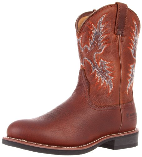 Ariat Men's H Stockman H20 Insulated Boot,Oiled Brown,11 M US