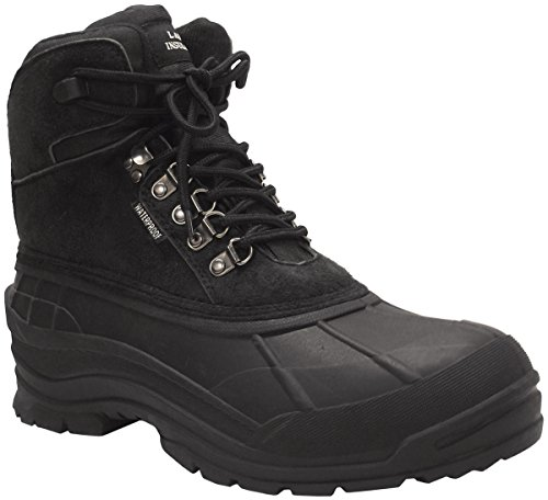 LABO Men's Winter Snow Boots Shoes Waterproof Insulated Lace UP (D,M) 103