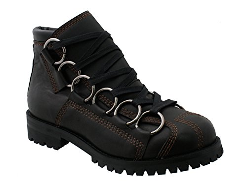 GBX 57657 Mens 6 Ring Lug Sole Boot,Black,13M