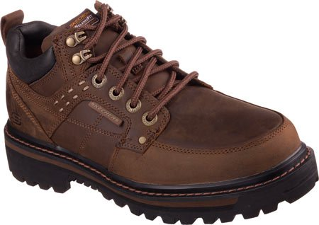 Skechers Men's Relaxed Fit Mariners Vitor,Dark Brown,US 10.5 M
