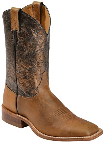 Justin Boots Men's U.S.A. Bent Rail Collection 11″ Boot Wide Square Double Stitch Toe Leather Outsole,Tan Daminana Cowhide/Cobre Metallic Cow,10 D US