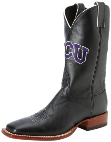 Nocona Boots Men's Texas Christian Boot,Black Smooth Calf,10 EE US