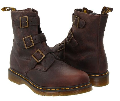 Dr. Martens Men's 'Tyson' Strapped Boot, Dark Brown, UK 12