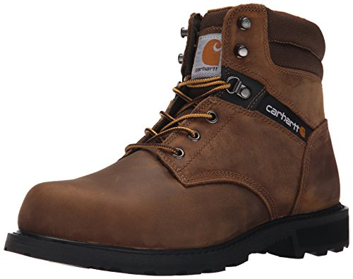 Carhartt Men's 6 Work Safety Toe NWP Work Boot, Crazy Horse Brown Oil Tanned, 10 M US