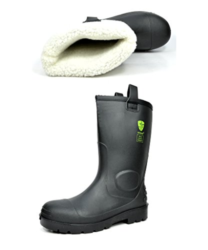 DP Mens 0613W Water Proof Fur Interior Rubber Sole Winter Snow Rain Boots