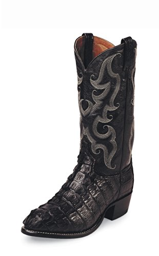 Tony Lama Men's Caiman Tail Boot Black US
