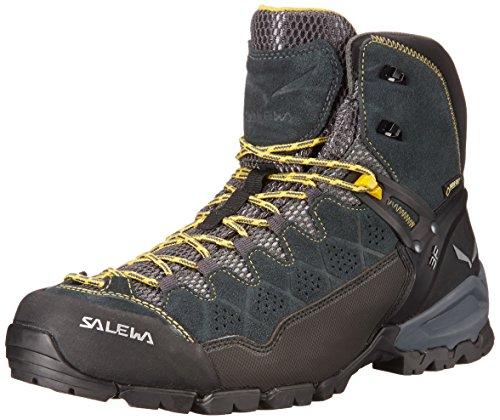 Salewa Men's ALP Trainer Mid GTX Technical Approach Shoe, Carbon/Ringlo, 13 M US