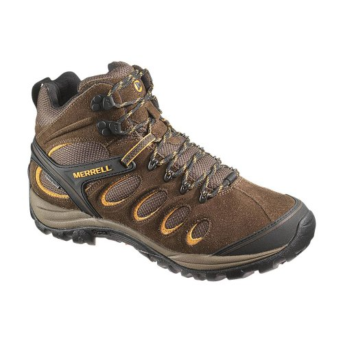 Merrell Men's Chameleon 5 Mid Ventilator Waterproof Hiking Boot,Black Slate,8 M US