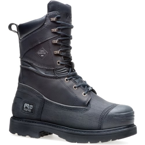 Timberland PRO 53531 Men's 10-in ST PR Mining Boot Black 9 M US