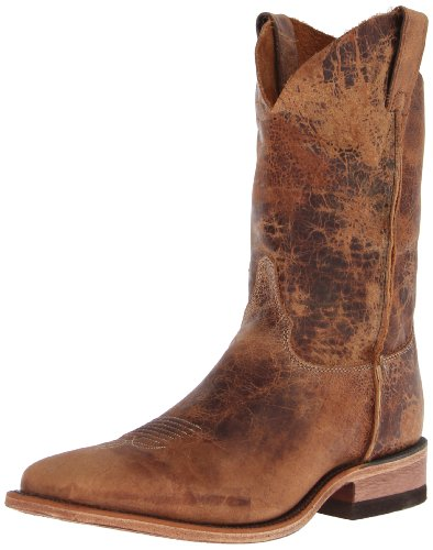 Justin Boots Men's U.S.A. Bent Rail Collection 11″ Boot Wide Square Double Stitch Toe Leather Outsole,Tan Road,9.5 D US