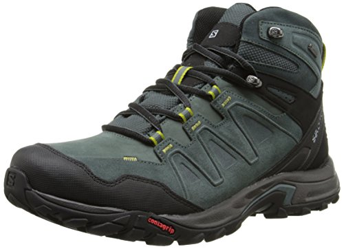 Salomon Men's Eskape LTR Mid GTX Multifunctional Hiking Shoe, Tomato/Dark Tomato/Corylus Green, 9 M US