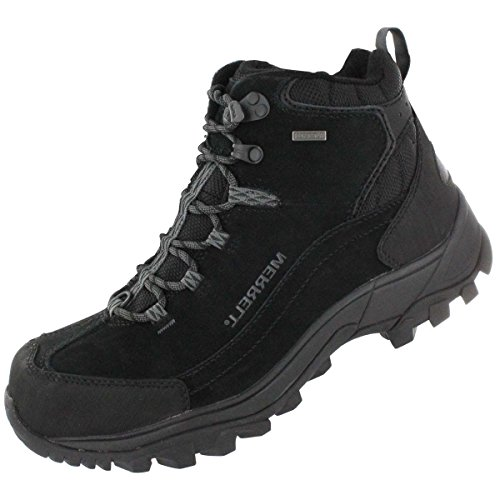 Merrell Men's Norsehund Omega Mid Waterproof Winter Boot Black 9.5 M US