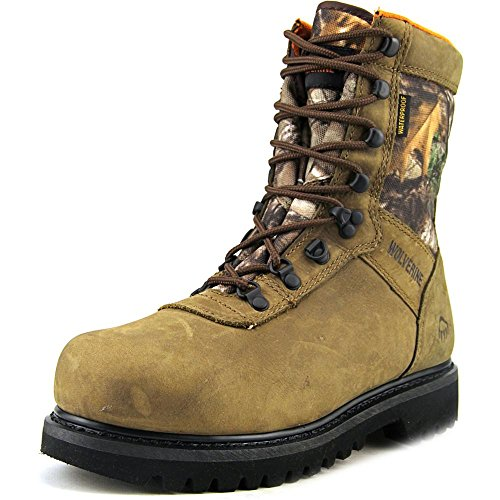 Men's Wolverine® Big Horn Insulated Waterproof 8″ Hunting Boot (10.5 M in Natural/RealTreeTM Xtra)